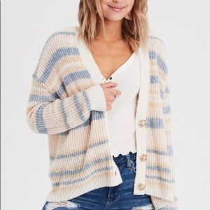 American Eagle Striped Cardigan